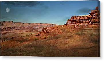Moonrise On The Mesa Canvas Print by Marty Koch