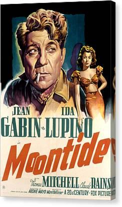 Moontide, Jean Gabin, Ida Lupino, 1942 Canvas Print by Everett