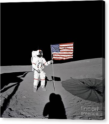 Moonwalk No. 4 Canvas Print by Pg Reproductions