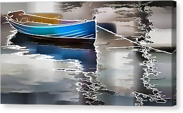 Moored Canvas Print by Alice Gipson