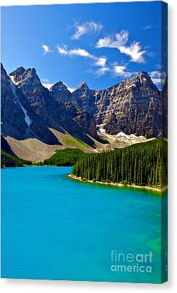 Moraine Lake Canvas Print by James Steinberg and Photo Researchers