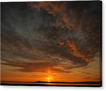 Morecambe Sunset Canvas Print by Christopher Mercer