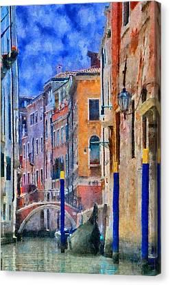 Morning Calm In Venice Canvas Print by Jeff Kolker