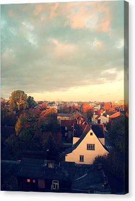 Morning In The Town Canvas Print by German Savchishen