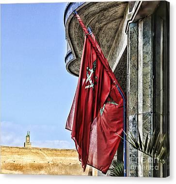 Morocco Flag I Canvas Print by Chuck Kuhn