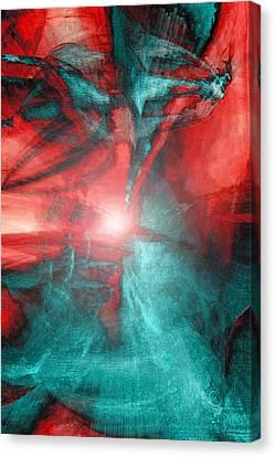 Morphing Thru Time Canvas Print by Linda Sannuti