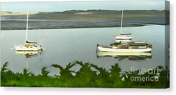 Morro Bay Sail Boats Canvas Print by Gregory Dyer