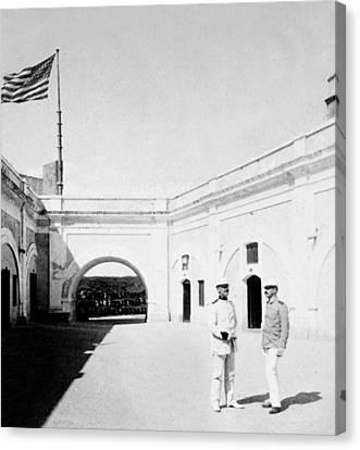 Morro Castle - Interior - San Juan - Puerto Rico - C 1900 Canvas Print by International  Images