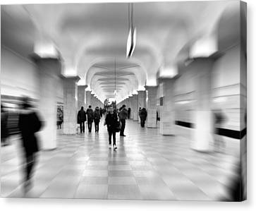 Moscow Underground Canvas Print by Stelios Kleanthous
