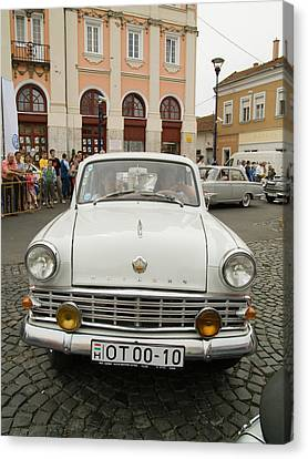 Moscvich Old Car Canvas Print by Odon Czintos