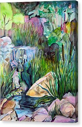 Moses In The Bull Rushes Canvas Print by Mindy Newman