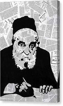 Moshe Feinstein Canvas Print by Anshie Kagan