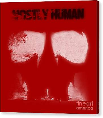 Mostly Human 2 Canvas Print by Pixel  Chimp