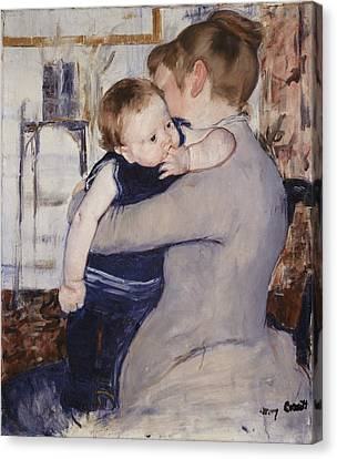Mother And Child Canvas Print by Mary Stephenson