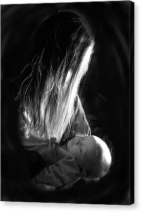 Mother And Child Canvas Print by Sheri Lauren Schmidt