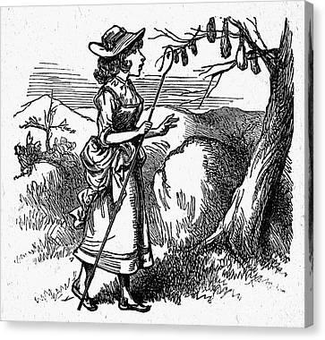 Mother Goose: Bo-peep Canvas Print by Granger
