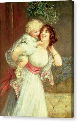 Mothers Darling Canvas Print by Frederick Morgan