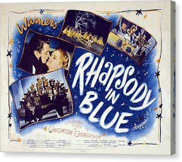 Motion Picture Poster For Rhapsody In Canvas Print by Everett