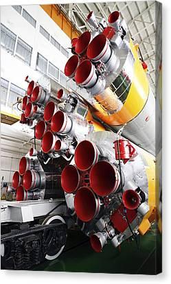 Motors Of A Soyuz Rocket Canvas Print by Ria Novosti