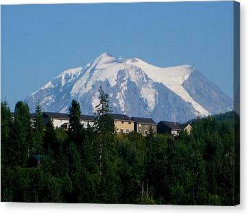 Mount Rainier 3 Canvas Print by Kathy Long