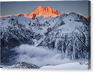 Mount Rolleston In The Dawn Light Canvas Print by Colin Monteath