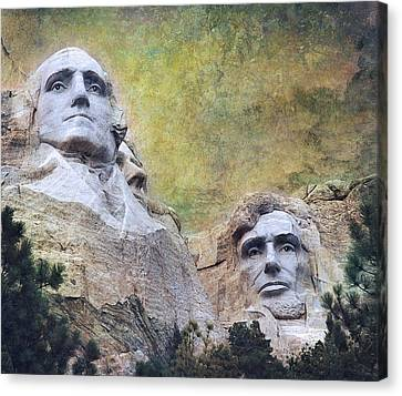 Mount Rushmore - My Impression Canvas Print by Jeff Burgess
