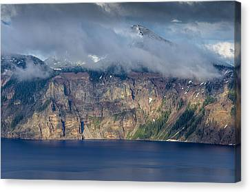 Mount Scott Cloud Shroud Canvas Print by Greg Nyquist