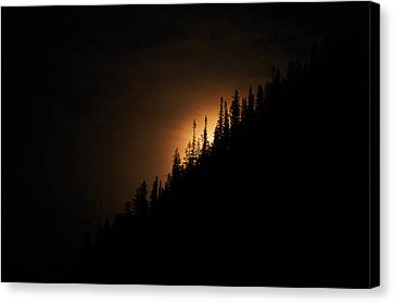 Mountain Glow Canvas Print by Lisa  Spencer
