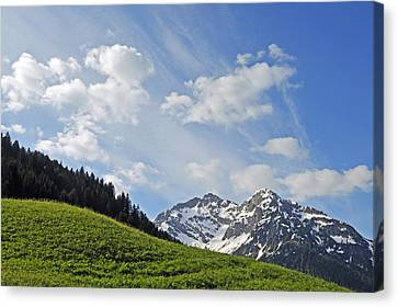 Mountain Landscape In The Alps Canvas Print by Matthias Hauser