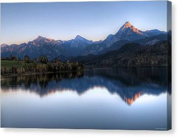 Mountain Reflections Canvas Print by Ryan Wyckoff