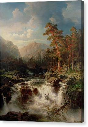 Mountain Torrent Smaland Canvas Print by Marcus Larson