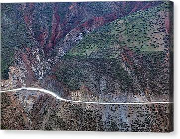 Mountain View From Tizi-n-test Pass (e 2092 Meters), Tizi-n-test Pass Road, Morocco Canvas Print by Walter Bibikow