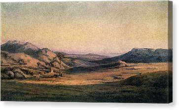'mountainous Countryside' Painting By Edmond Barbazzona Canvas Print by Photos.com
