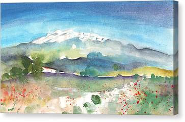 Mountains By Agia Galini Canvas Print by Miki De Goodaboom