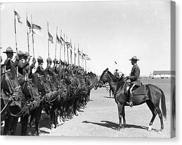 Mounted Police Canvas Print by Kurt Hutton