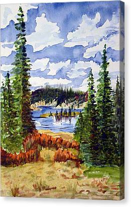 Mountian Lake Canvas Print by Linda Pope