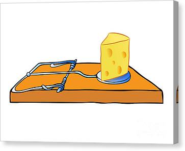 Mousetrap With Cheese - Trap Canvas Print by Michal Boubin
