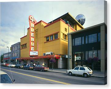 Movie Theaters, Fourth Avenue Theatre Canvas Print by Everett
