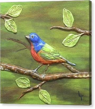 Mr. Bundting Canvas Print by Lorrie T Dunks