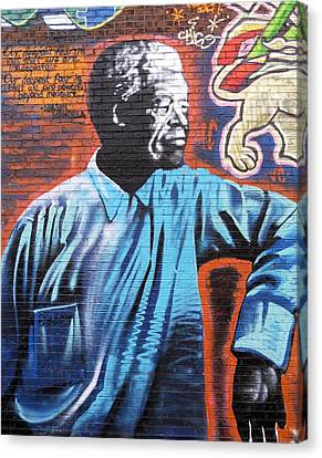 Mr. Nelson Mandela Canvas Print by Juergen Weiss
