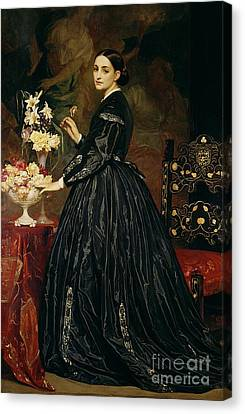 Mrs James Guthrie Canvas Print by Frederic Leighton