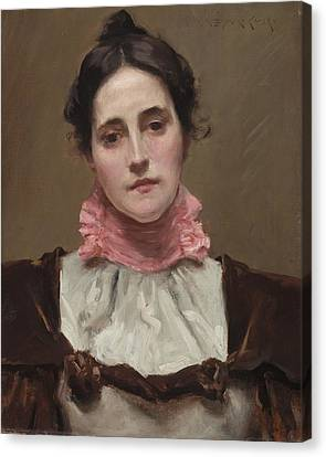 Mrs. William Merritt Chase Canvas Print by William Merritt Chase