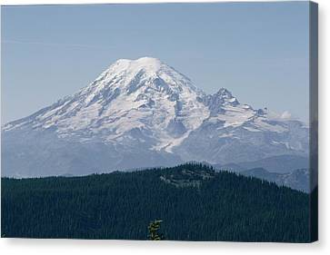 Mt. Rainier Seen From The Yakima Valley Canvas Print by Sisse Brimberg