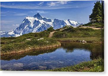Mt Shuksan Canvas Print by A A