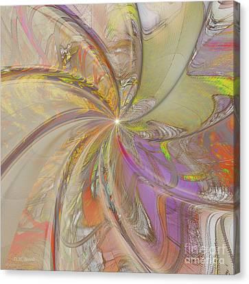 Multi Colored Pinwheel Canvas Print by Deborah Benoit