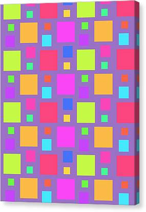 Multicoloured Squares Canvas Print by Louisa Knight