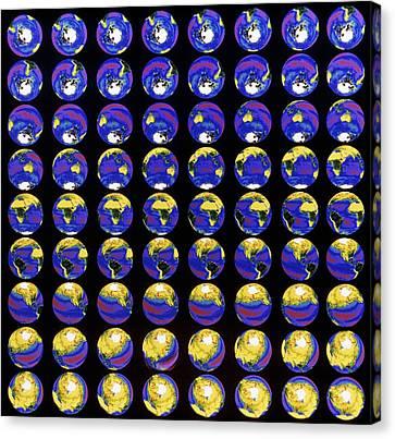 Multiple Satellite Images Of The Earth's Biosphere Canvas Print by Dr Gene Feldman, Nasa Gsfc