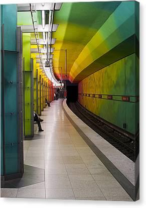 Munich Subway No.2 Canvas Print by Wyn Blight-Clark