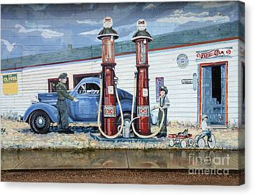 Mural Art At Consul Canvas Print by Bob Christopher
