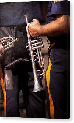 Music - Trumpet - Police Marching Band  Canvas Print by Mike Savad